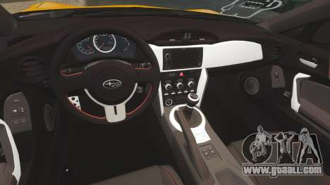 Subaru BRZ 2013 for GTA 4 inner view