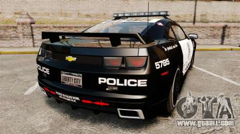 Chevrolet Camaro Police [ELS-EPM] for GTA 4 back left view