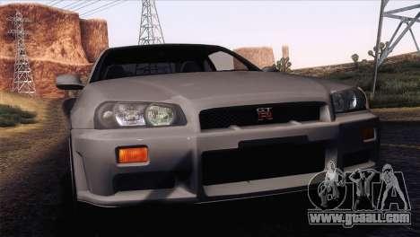 Nissan Skyline GT-R R34 V-Spec Lexani Rims for GTA San Andreas
