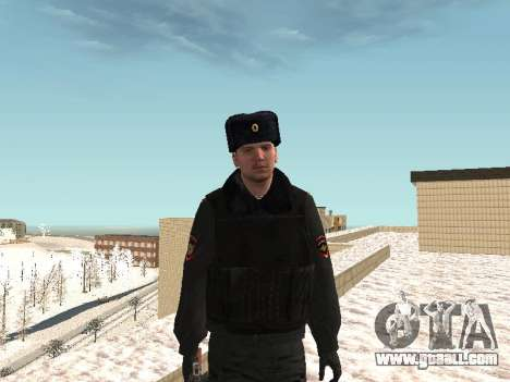 Pak police officers in the winter uniforms for GTA San Andreas ninth screenshot