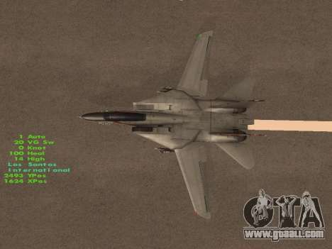 F-14 Tomcat HQ for GTA San Andreas bottom view