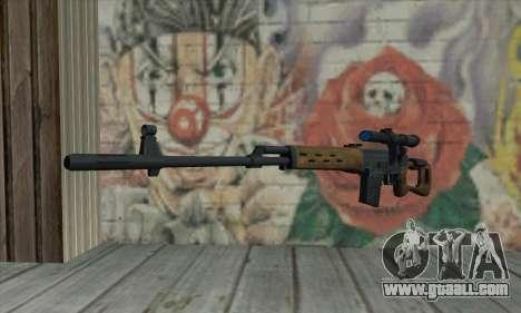 Dragunov Sniper Rifle for GTA San Andreas