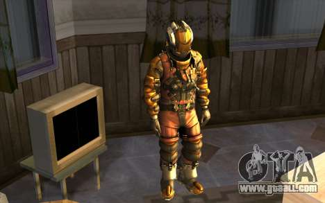 Isaac Clark in E.V.A Suit for GTA San Andreas second screenshot