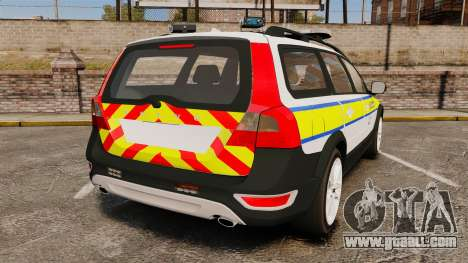 Volvo XC70 Emergency Response Unit [ELS] for GTA 4 back left view