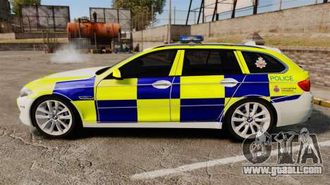 BMW 530d Touring Lancashire Police [ELS] for GTA 4 left view