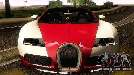 Bugatti Veyron 16.4 for GTA San Andreas back view