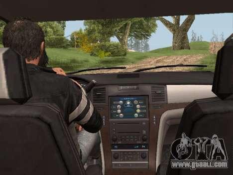 Cadillac Escalade 2010 for GTA San Andreas back left view