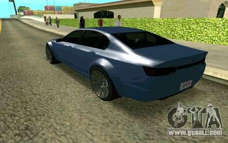 GTA V Fugitive for GTA San Andreas left view