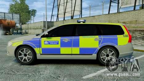 Volvo V70 Metropolitan Police [ELS] for GTA 4 left view