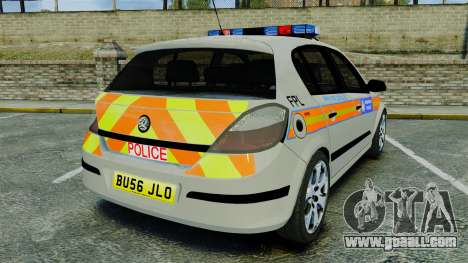 Vauxhall Astra Metropolitan Police [ELS] for GTA 4 back left view