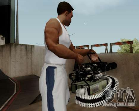 Renegades Minigun Black for GTA San Andreas forth screenshot