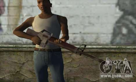 M16A1 for GTA San Andreas third screenshot