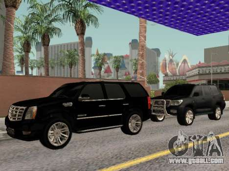 Cadillac Escalade 2010 for GTA San Andreas back view