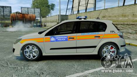 Vauxhall Astra Metropolitan Police [ELS] for GTA 4 left view