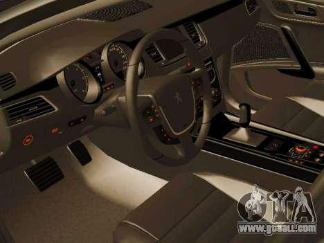 Peugeot 508 2011 v2 for GTA San Andreas back view