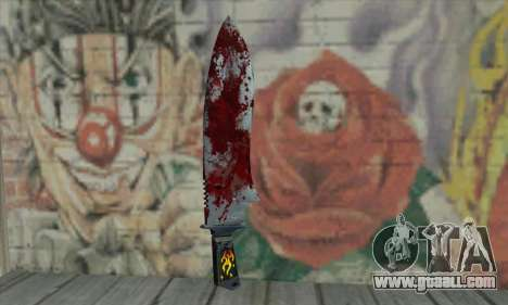 Large bloody knife for GTA San Andreas second screenshot