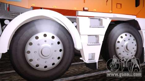 Freightliner Argosy 8x4 for GTA San Andreas back view