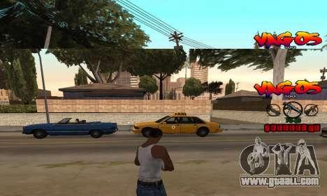 HUD Vagos for GTA San Andreas second screenshot