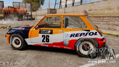 Renault 5 Maxi Turbo for GTA 4 left view