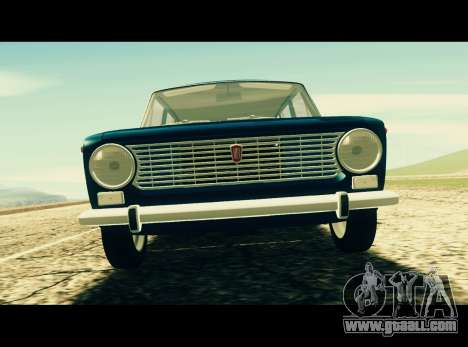 Fiat 124 Familiare for GTA San Andreas back left view