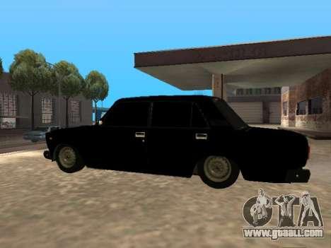 Vaz 2107 v1.2 Final for GTA San Andreas left view