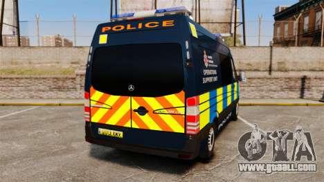 Mercedes-Benz Sprinter Police [ELS] for GTA 4 back left view