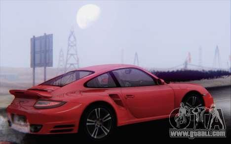 Porsche 911 Turbo for GTA San Andreas interior