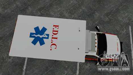 Ford F-250 Super Duty FDLC Ambulance [ELS] for GTA 4 right view
