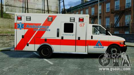 Brute Luxaid Ambulance [ELS] for GTA 4 left view