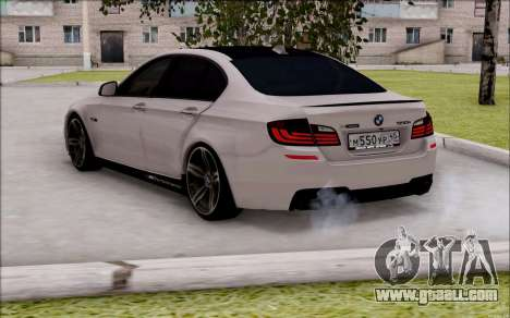 BMW 550 F10 xDrive for GTA San Andreas left view