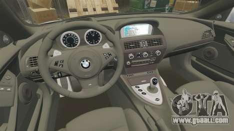 BMW M6 Vossen for GTA 4 inner view