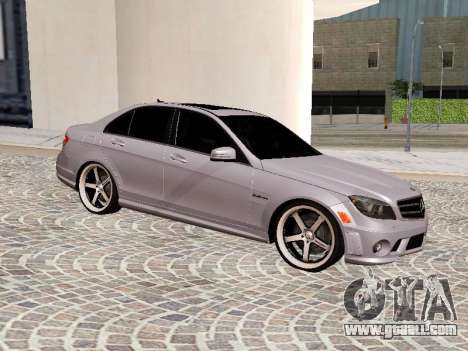 Mercedes-Benz C63 for GTA San Andreas left view