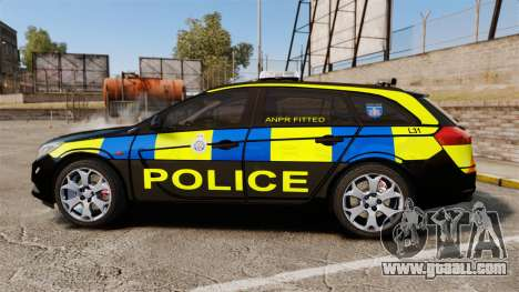 Vauxhall Insignia Sports Tourer Police [ELS] for GTA 4 left view