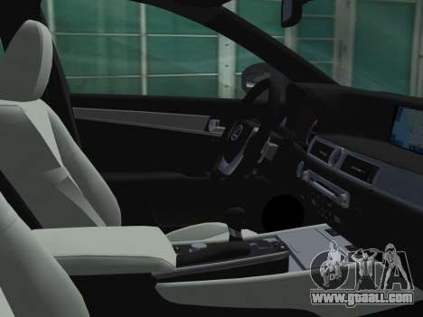 Lexus GS350 F Sport 2013 for GTA Vice City upper view