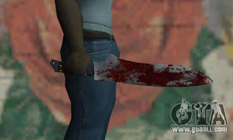 Large bloody knife for GTA San Andreas third screenshot