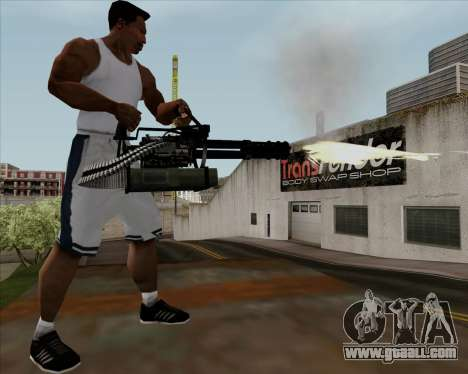 Renegades Minigun Black for GTA San Andreas fifth screenshot
