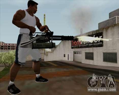 Renegades Minigun Black for GTA San Andreas fifth screenshot