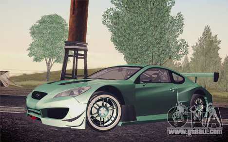 Hyundai Genesis Coupe 2010 Tuned for GTA San Andreas upper view