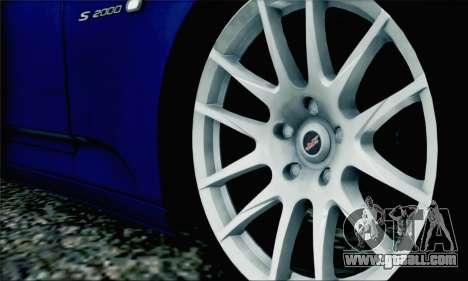 Honda S2000 Daily for GTA San Andreas interior