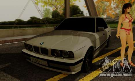BMW 525 Re-Styling for GTA San Andreas inner view