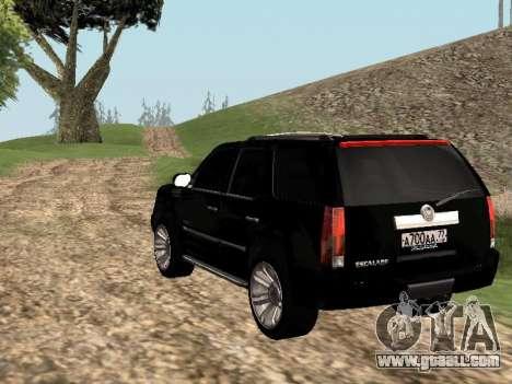Cadillac Escalade 2010 for GTA San Andreas left view
