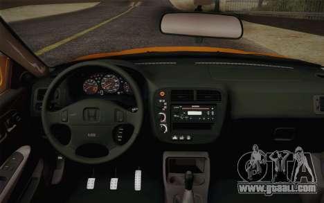 Honda Civic 1999 Si for GTA San Andreas right view