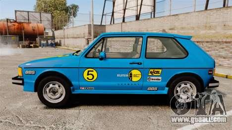 Volkswagen Rabbit GTI 1984 for GTA 4 left view