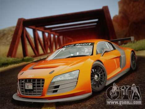 Audi R8 LMS v2.0.4 DR for GTA San Andreas inner view