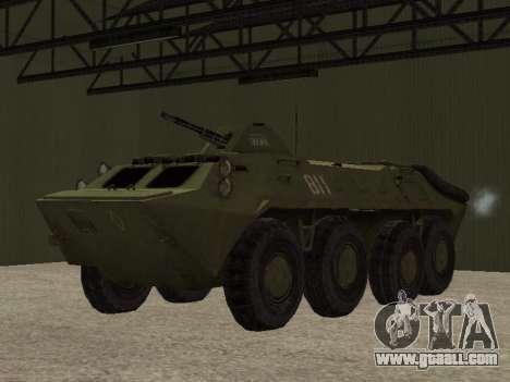 BTR-70 for GTA San Andreas back view