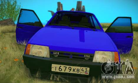 VAZ 21099 for GTA San Andreas bottom view