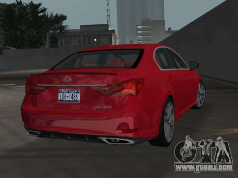 Lexus GS350 F Sport 2013 for GTA Vice City left view