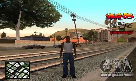 HUD Vagos for GTA San Andreas