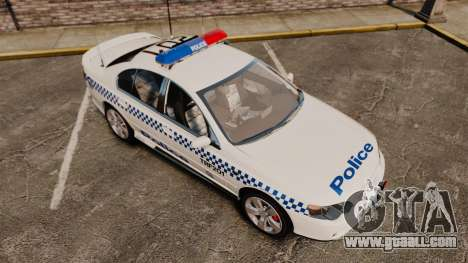 Ford BF Falcon XR6 Turbo Police [ELS] for GTA 4 upper view