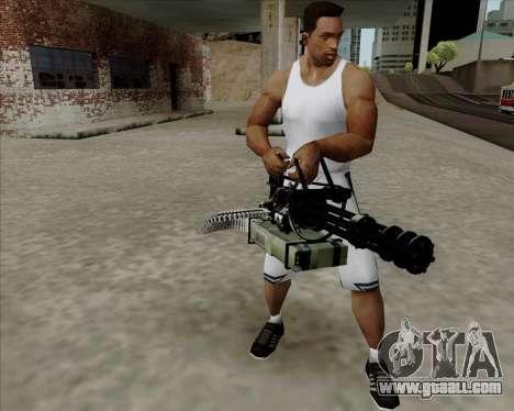 Renegades Minigun Black for GTA San Andreas second screenshot